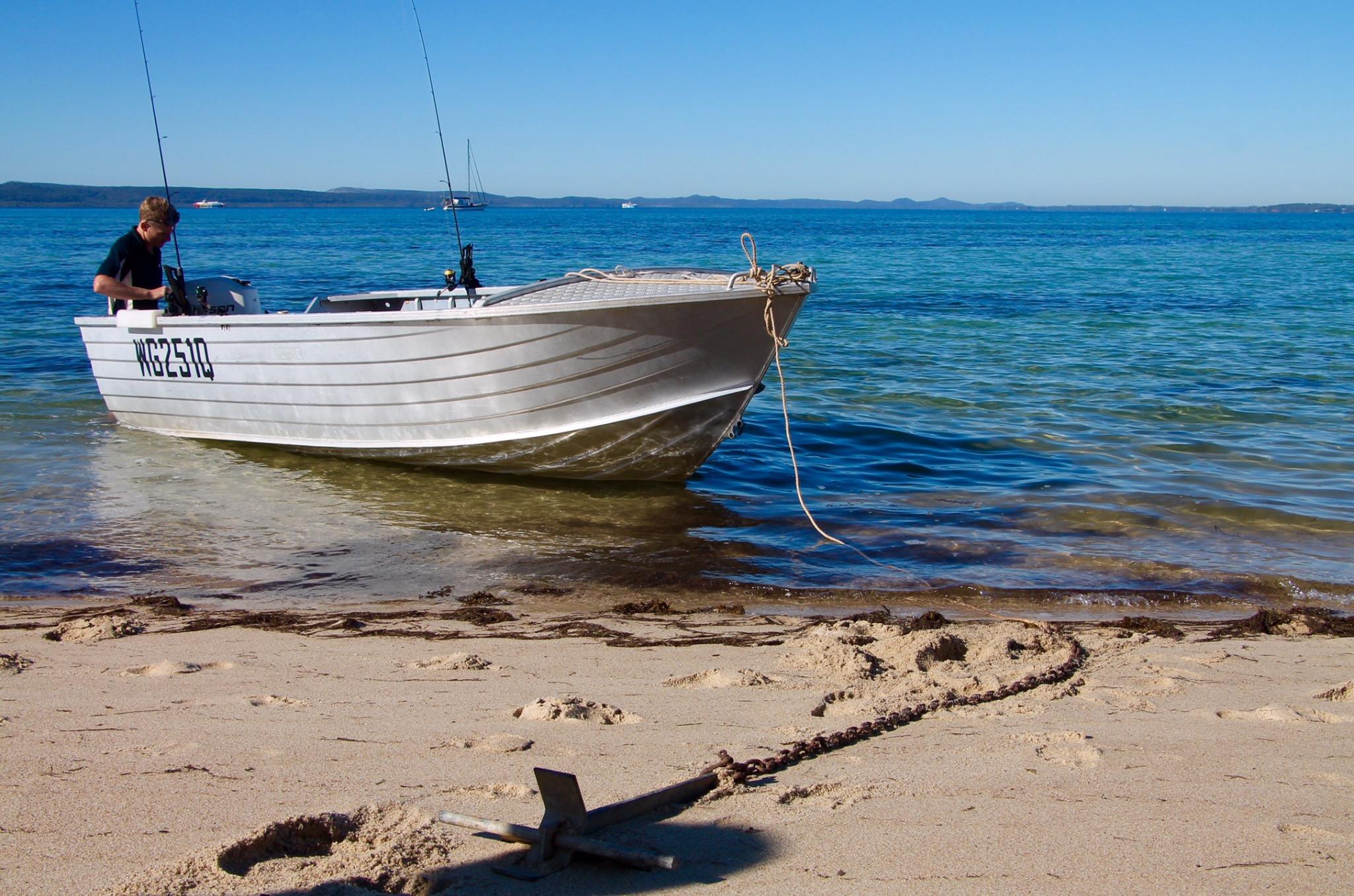 Boat trip to Peel Island.